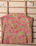 Women's Pink & Green Floral Tank Size 10 by Island Republic (02056)