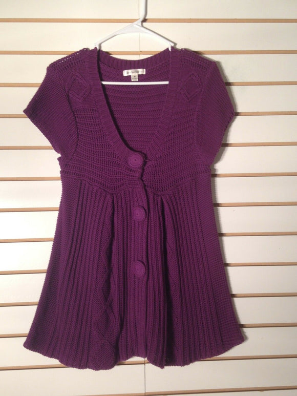 Women's Purple Knitted Vest Size M by John Paul Richard (01553)
