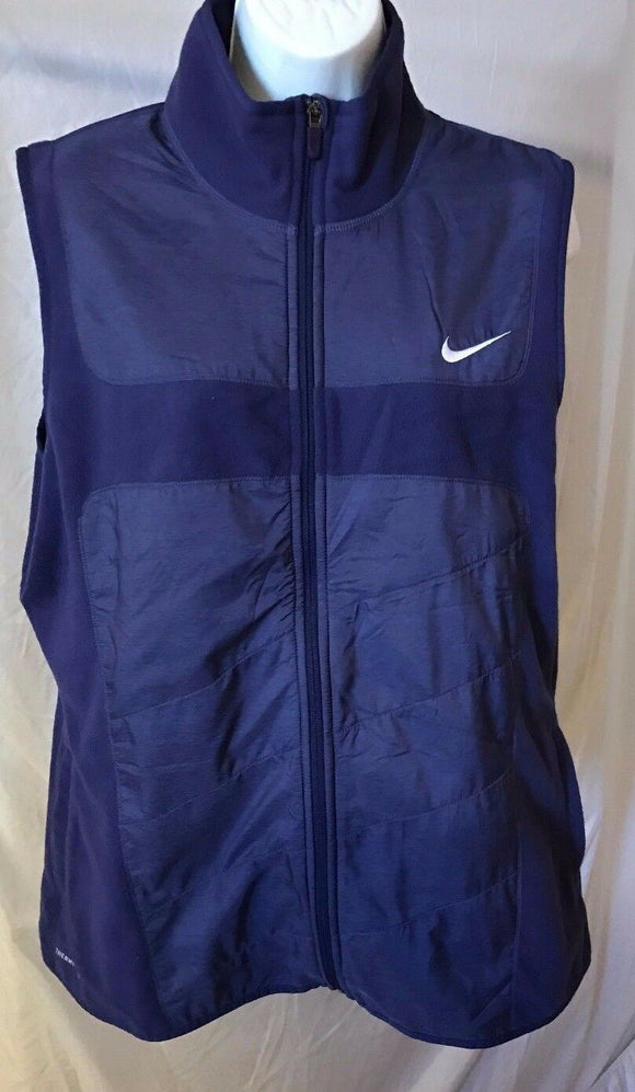 Women's Purple Sleeveless Fleece Jacket Size XL by Nike (02629)