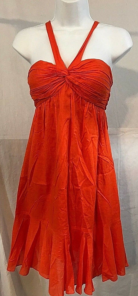Women's Orange Empire Waist Cocktail Dress by Gianni Bini (03387)
