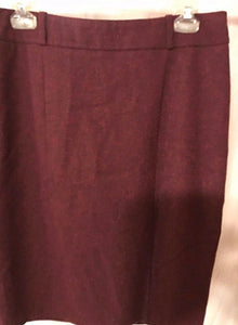 Women's Red Straight Skirt Size 12 by Mossimo Stretch (02891)