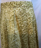 Women's Petite Green Pleated Flare Skirt Size 8P by Talbots Petite (03207)