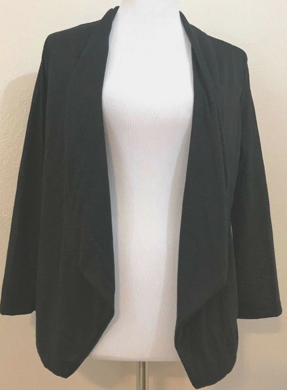Women's Plus Size Black Cardigan Size 2X by Extra Touch (03888)