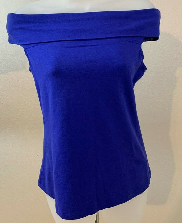 Women's Royal Blue Off Shoulder Top Size XS by SOHO New York & Company (04449)
