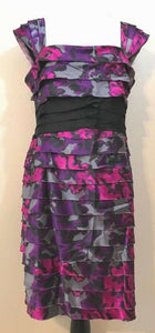 Women's Multicolor Layered Dress Size 16  by Jones New York (03935)