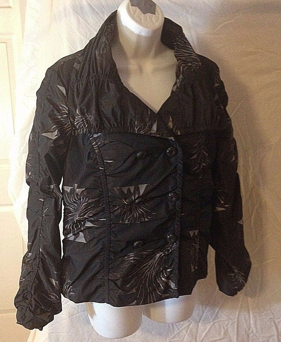 Women's Charcoal Floral Jacket Size 8 by Lena Gabrielle (02414)