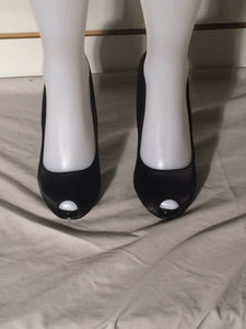 Women's Black Peep toe Stilletto's by Urban Behavior (SH230)
