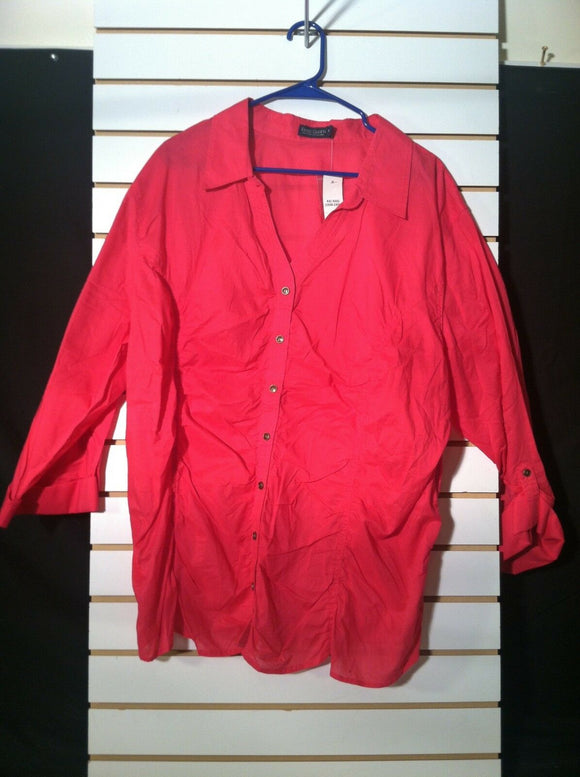 Women's New Plus Size Fuchsia Shirt Size 4X by Faded Glory (01137)