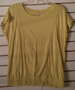 Women's Short Sleeve Yellow Tee Shirt Size M by Sonoma (01695)