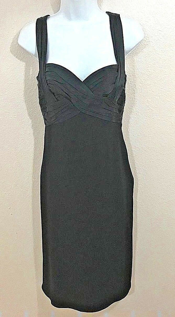 Women's Black Gathered Cocktail Dress by Laundry (04096)