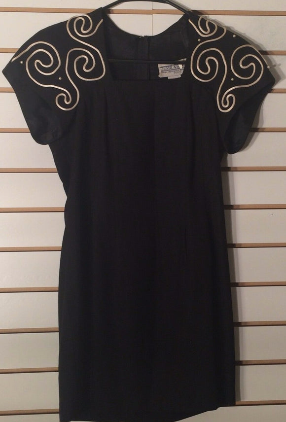 Women's Petite Black Dress Size 2 by Jessica Howard (01662)