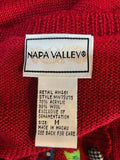 Women's Red Embroidered Button Down Sweater Size M by Napa Valley (03439)