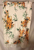 Women's White Lace Multi-Color Floral Skirt Size L by Eva Mendes (02896)