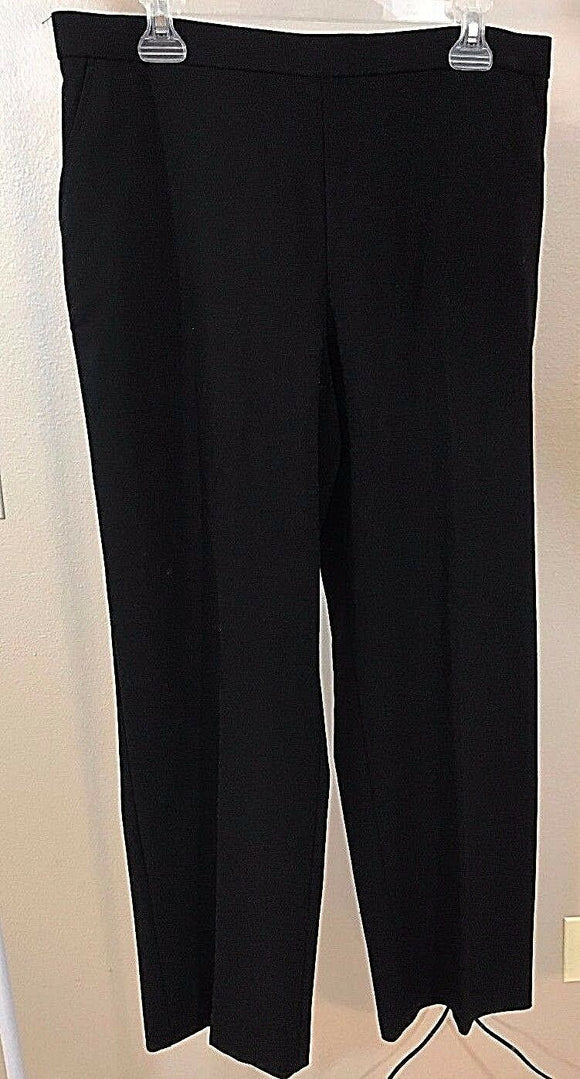 Women's New Petite Black Pants Size 16P by Counterparts (02961)