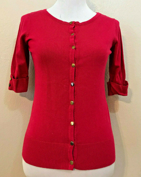 Women's Rose Button Down Knit Top Sweater Size 4 by Jospeh A. (04254)