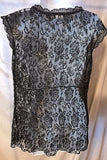 Women's Brown Sheer Lace Sleeveless Top Size M by DKNY Jeans (02808)