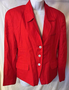 Women's Red Blazer Size 10 by JH Collectibles (02680)