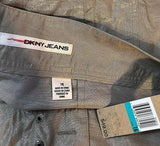 Women's New Tan Shiny Crinkled Shorts by DKNY Jeans (03225)