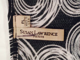 Women's Petite Black & White Top Size PL by Susan Lawrence Petite (01264)