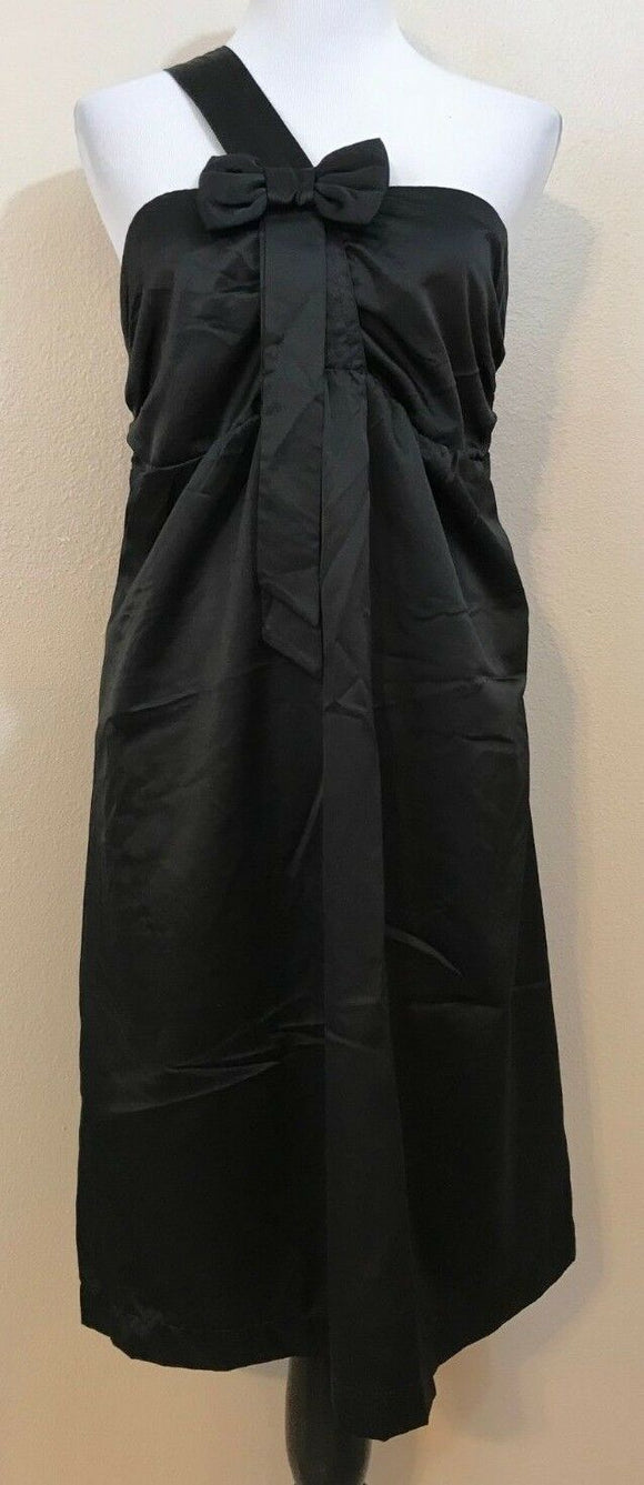 Women's New Black One-Shoulder Dress Size L by Kische (03941)
