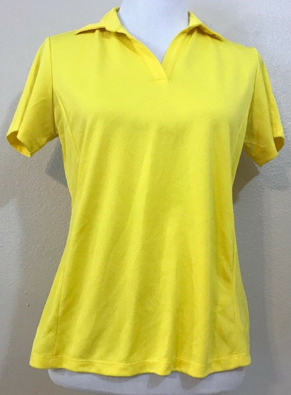 Women's Yellow V-Neck Athletic Top by Lady Hagen (03845)