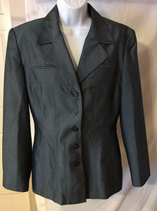 Women's Charcoal Gray Blazer Size 10 by Larry Levine Suits (02676)