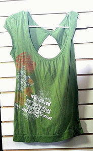 Women's Green Decorative Top Size M by Maurice's (00487)