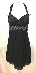 Women's Black Beaded Embellished Blossom Dress Size S by My Michelle (03486)