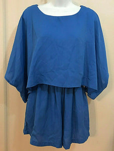 Women's Cerulean Blue Caped Top Romper Size XS by Gianni Bini (04300)