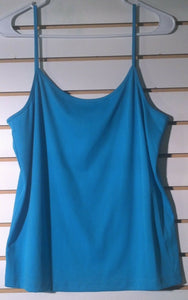 Women's Turquoise Tank Top Size XL by Nue Options (01022)