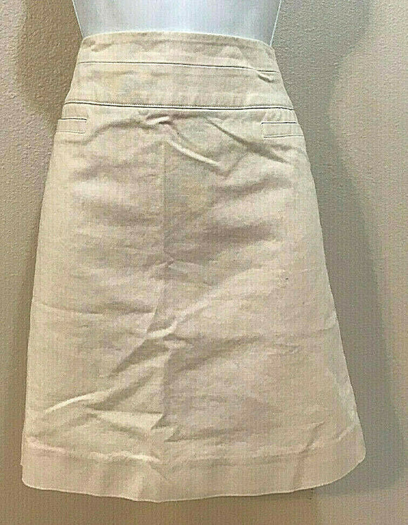 Women's Cream Straight Skirt Size 2 by Valerie Bertinelli (04294)