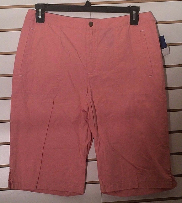 Women's New Pink Capri's Size 12 by J.H. Collections (02133)