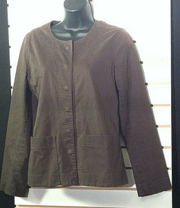 Women's Petite Brown Blazer Size PS by Eileen Fisher (00497)