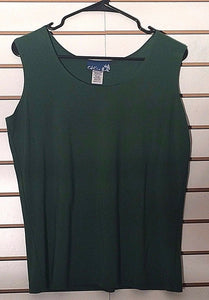 Women's Green Clingy Tank Top Size M by CSC Studio (02159)