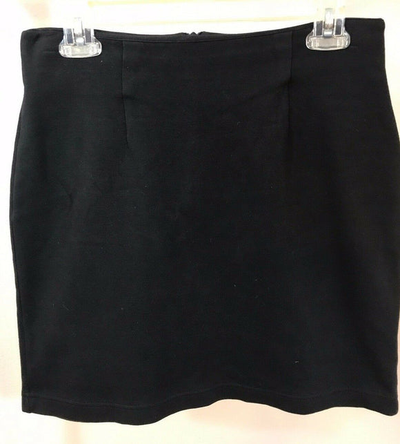 Women's Black Cotton Skirt Size M by Bloomingdale's (02954)