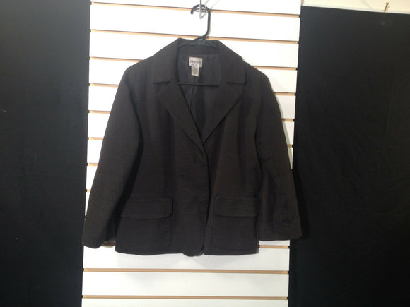 Women's Black Textured Blazer Size 1 by Chico's (00233)