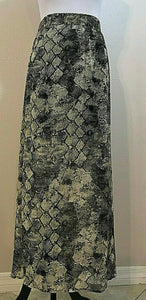 Women's Black, Tan & Gold Animal Print Sheer Long Skirt Size M by Maurice's (04241)