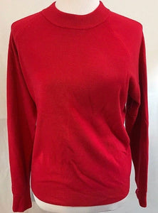 Women's Red Long Sleeve Knit Top Size XL by Mercer Street Studio (03353)