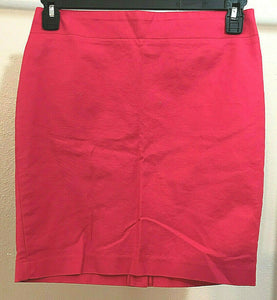 Women's Rose Colored Straight Skirt Size 4 by Dalia Collection (04312)