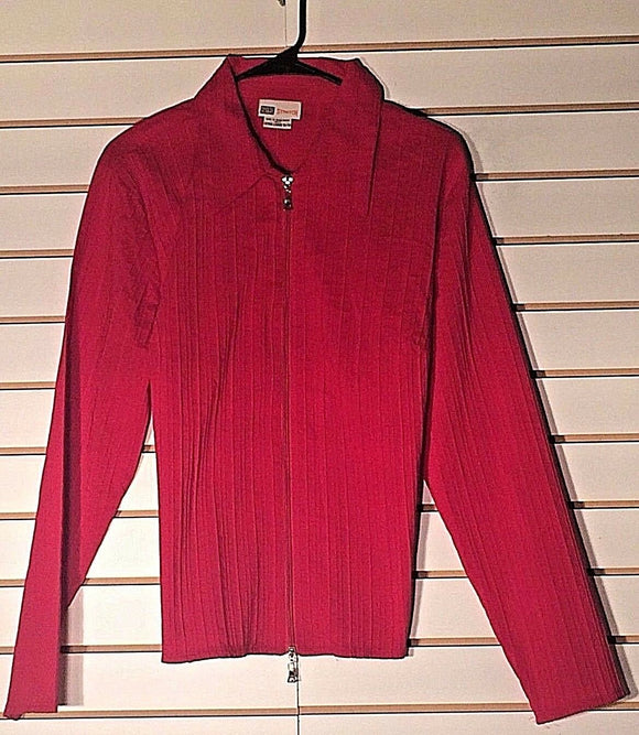 Women's Red Textured Stretch Top Size XL (16/18) by Faded Glory (02170)