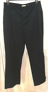 Women's New Black Pants Size 14 by Kate Hill Casual (03498)
