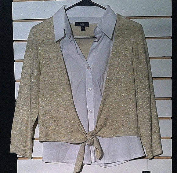 Women's New Double Sweater Shirt Size L by AGB  (00347)