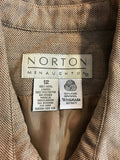 Women's 2 Pc. Tan Wool Skirt Suit by Norton McNaughton (04142)