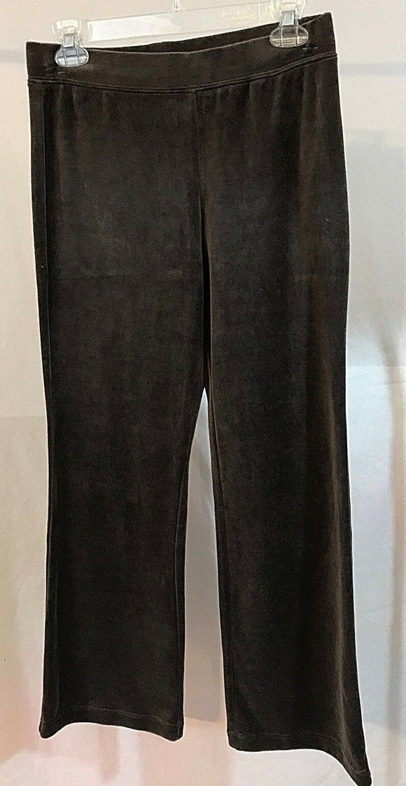 Women's New Brown Velour Pants by Style & Co Sports (03227)