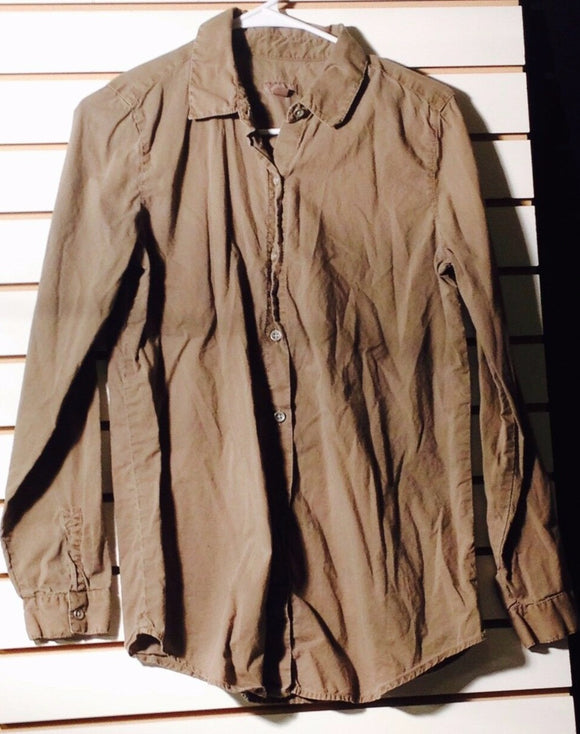 Women's Cotton Pewter Button Down Shirt Size XS by J. Jill (01280)