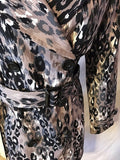 Women's Multi-Color Animal Print Double Breasted Jacket Size S by Liz Claiborne (02705)