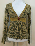 Women's Gold Animal Print Light Cardigan by Kimchi & Blue (04349)