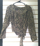 Women's Multi-Color Animal Print Blouse Size S by Mixit (00884)
