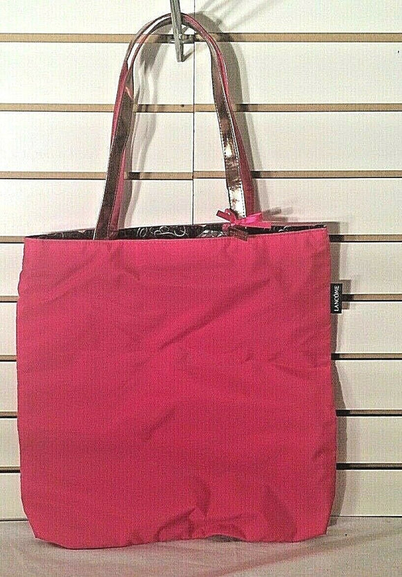 Women's Hot Pink Tote w/Small Purse Wallet by Lancome (P130)