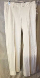 Women's New White Cuff Pants Size 6 by INC International Concepts (02687)